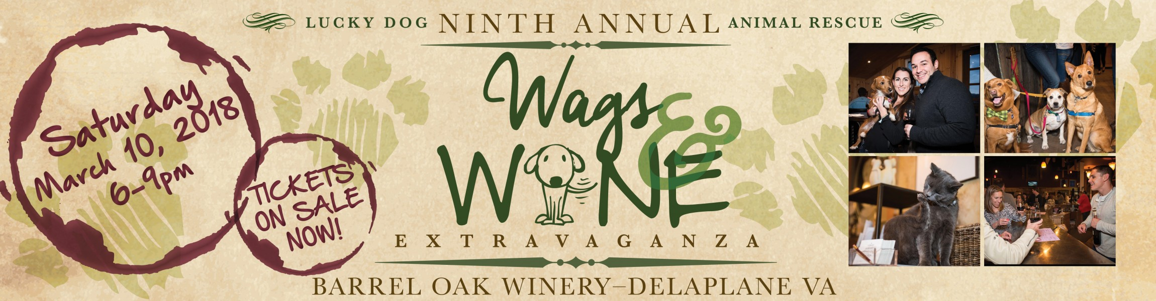 Lucky Dog Animal Rescue's 9th Annual Wags & Wine