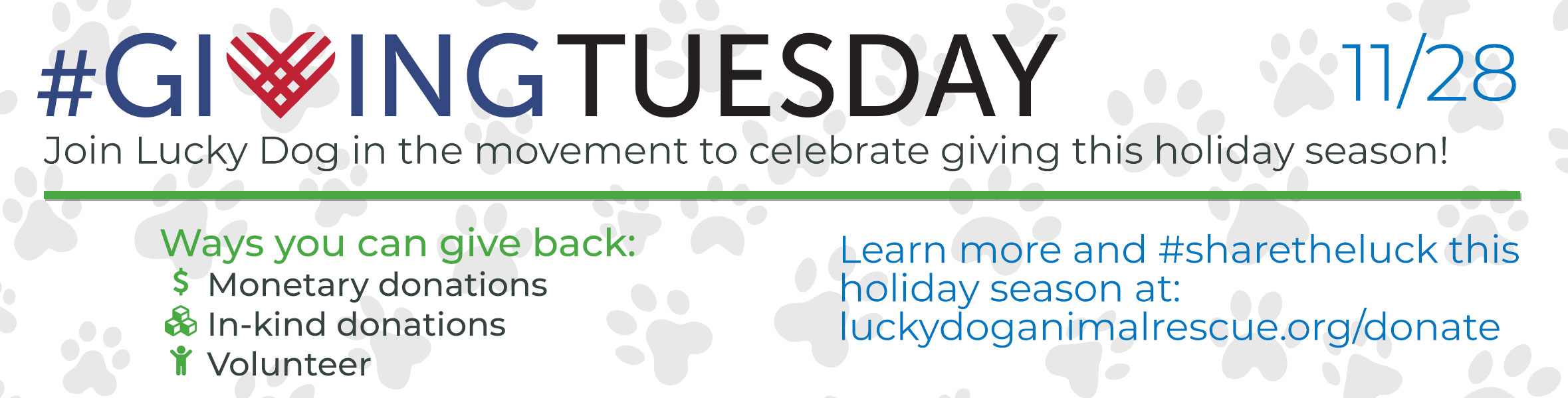 #Givingtuesday with Lucky Dog Animal Rescue